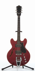 Musical Instruments:Electric Guitars, Framus Caravelle 5/117 Cherry Semi-Hollow Body Electric Guitar #17144....