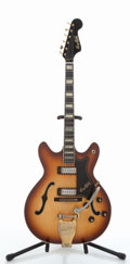 Musical Instruments:Electric Guitars, 1967 Hagstrom Viking Deluxe Semi-Hollow Sunburst Electric Guitar,#718219....