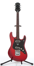 Musical Instruments:Electric Guitars, 1970's Epiphone ET-270 Red Electric Guitar, # 224350....