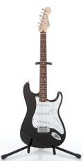 Musical Instruments:Electric Guitars, 2004 Fender Stratocaster Black Electric Guitar, #MZ4042295....