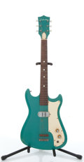 Musical Instruments:Electric Guitars, Vintage Silvertone Green Electric Guitar # N/A. ...