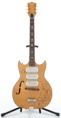 Musical Instruments:Electric Guitars, Vintage Airline P-3 Maple Semi-Hollow Body Electric Guitar #N/A....