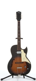 Musical Instruments:Electric Guitars, Vintage Kay Sunburst Archtop Electric Guitar #N/A....
