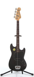 Musical Instruments:Bass Guitars, 1978 Fender Musicmaster Black Electric Bass Guitar #S840818....
