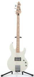 Musical Instruments:Bass Guitars, 2001 Peavey T-45 White Electric Bass Guitar #014036712....