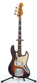 Musical Instruments:Bass Guitars, 1968 Fender Jazz Bass Sunburst Electric Bass Guitar #221303. ...