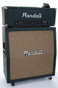 Musical Instruments:Amplifiers, PA, & Effects, Randall Rg-100 Head & RA412 Cabinet Green Vinyl #9806R1391,9811P117....
