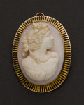 Estate Jewelry:Cameos, High Relief Coral Cameo. ...