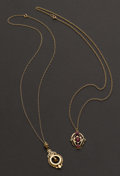 Estate Jewelry:Necklaces, Two Gold Necklaces. ... (Total: 2 Items)