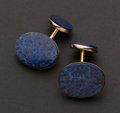 Estate Jewelry:Cufflinks, Lapis Lazuli 14k Gold Cufflinks. ...