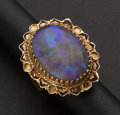 Estate Jewelry:Rings, Large Gold Set Opal Ring. ...