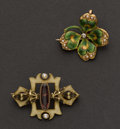 Estate Jewelry:Brooches - Pins, Two Exquisite Enameled Pins. ... (Total: 2 Items)