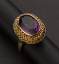 Estate Jewelry:Rings, Amethyst & 18k Gold Ring. ...