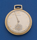 Timepieces:Pocket (post 1900), Tiffany By Hamilton 14k Gold 21 Jewel Grade 921 Pocket Watch. ...