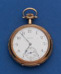 Timepieces:Pocket (post 1900), Elgin Heavy 14k Gold 12 Size Pocket Watch. ...
