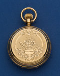 Timepieces:Pocket (post 1900), Elgin 18k Gold 6 Size Hunter's Case Pocket Watch. ...