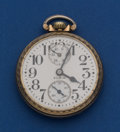 Timepieces:Pocket (post 1900), Elgin 21 Jewel 16 Size B.W. Raymond With Wind Indicator Pocket Watch. ...
