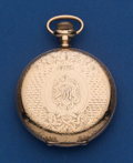 Timepieces:Pocket (post 1900), Elgin 16 Size Fancy Dial Hunter's Case Pocket Watch. ...