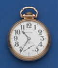 Timepieces:Pocket (post 1900), Illinois 21 Jewel Model Barrel 60 Bunn Special Pocket Watch. ...