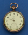 Timepieces:Pocket (post 1900), Ball B of LF Standard 17 Jewel 18 Size By Hamilton Pocket Watch....