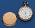 Timepieces:Pocket (post 1900), Rockford 21 Jewel 16 Size Grade 655 With Wind Indicator ForRestoration. ...