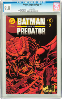 Batman Versus Predator #2 Savannah pedigree (DC/Dark Horse, 1991) CGC NM/MT 9.8 White pages