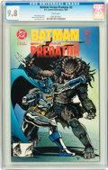 Modern Age (1980-Present):Superhero, Batman Versus Predator #3 Savannah pedigree (DC/Dark Horse, 1991) CGC NM/MT 9.8 White pages....