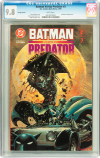 Batman Versus Predator #3 Prestige Format - Savannah pedigree (DC/Dark Horse, 1991) CGC NM/MT 9.8 White pages