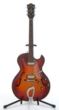 Musical Instruments:Electric Guitars, Vintage Guild T-100-D Cherry Burst Archtop Electric Guitar#EE758....