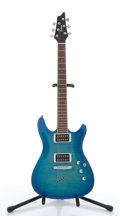 Musical Instruments:Electric Guitars, 2008 Ibanez SE Blueburst Electric Guitar #S08041138....