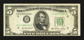 Error Notes:Miscellaneous Errors, Fr. 1962-H $5 1950A Federal Reserve Note. Extremely Fine.. ...