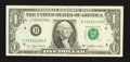 Error Notes:Blank Reverse (<100%), Fr. 1909-D $1 1977 Federal Reserve Note. Extremely Fine-AboutUncirculated.. ...