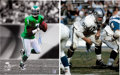Football Collectibles:Photos, Football Legends Signed Oversized Photographs Lot of 3....
