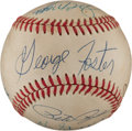 Autographs:Baseballs, Big Red Machine Multi Signed Baseball. ...