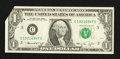Error Notes:Foldovers, Fr. 1908-C $1 1974 Federal Reserve Note. Extremely Fine.. ...