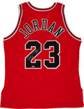 """Basketball Collectibles:Uniforms, Michael Jordan Signed """"Upper Deck Authenticated"""" Jersey...."""