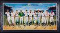 Baseball Collectibles:Others, 500 Home Run Club Ron Lewis Multi Signed Lithograph. ...