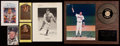 Baseball Collectibles:Others, Baseball Legends Signed Memorabilia Lot of 6 - With 2 Mickey MantleAutographs!...