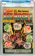 Silver Age (1956-1969):War, Sgt. Rock's Prize Battle Tales Annual #1 Savannah pedigree (DC, 1964) CGC VF/NM 9.0 Off-white to white pages....