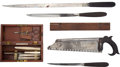 Military & Patriotic:Civil War, Very Nice Group of Civil War Period and Earlier Surgical/Amputation Instruments. ...