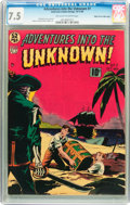 Golden Age (1938-1955):Horror, Adventures Into The Unknown #7 Mile High pedigree (ACG, 1949) CGCVF- 7.5 Off-white to white pages....