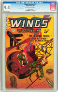 Golden Age (1938-1955):War, Wings Comics #115 (Fiction House, 1950) CGC NM 9.4 Cream tooff-white pages....