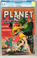 Golden Age (1938-1955):Science Fiction, Planet Comics #23 (Fiction House, 1943) CGC VG/FN 5.0 Slightlybrittle pages....