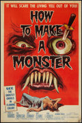 """Movie Posters:Horror, How to Make a Monster (American International, 1958). Poster (40"""" X 60""""). Horror.. ..."""
