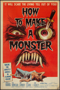 """How to Make a Monster (American International, 1958). Poster (40"""" X 60""""). Horror"""