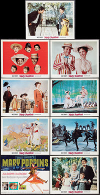 "Mary Poppins (Buena Vista, 1964). Lobby Card Set of 9 (11"" X 14""). Fantasy. ... (Total: 9 Items)"