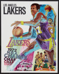 "Movie Posters:Sports, L.A. Lakers Lot (L.A. Lakers, 1970-1972s). (3) Posters (23"" X 29"", 22.5"" X 35"" and 24"" x 36"" ). Sports.. ... (Total: 3 Items)"