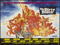 "The Dirty Dozen (MGM, 1967). British Quad (30"" X 40""). War"