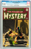 Silver Age (1956-1969):Horror, House of Mystery #181 Savannah pedigree (DC, 1969) CGC NM 9.4Off-white to white pages....