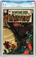 Bronze Age (1970-1979):Horror, House of Mystery #187 Savannah pedigree (DC, 1970) CGC NM- 9.2Off-white pages....